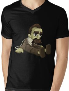 Glitch miscellaneousness doll nietzsche Mens V-Neck T-Shirt