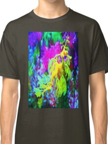 seahorse coral reef animal abstract Classic T-Shirt