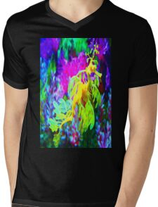 seahorse coral reef animal abstract Mens V-Neck T-Shirt