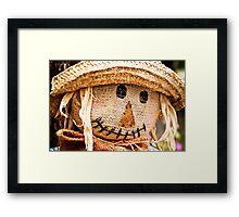 Scarecrow Smile Framed Print