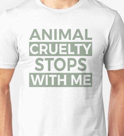 Stop Animal cruelty Unisex T-Shirt