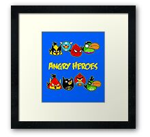 angry heroes Framed Print