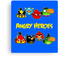 angry heroes Canvas Print