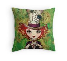 Lady Hatter Throw Pillow