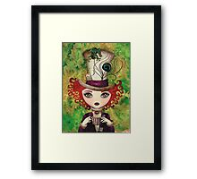 Lady Hatter Framed Print