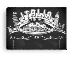Graphic Element for Italian Background Canvas Print