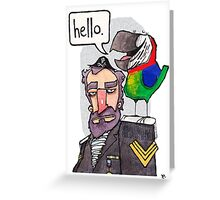 Hello greetings card Greeting Card