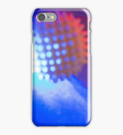 Spiked Orb in Red and Blue Space iPhone Case/Skin