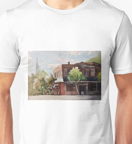 Plein air painting of Cary, North Carolina (USA) Unisex T-Shirt