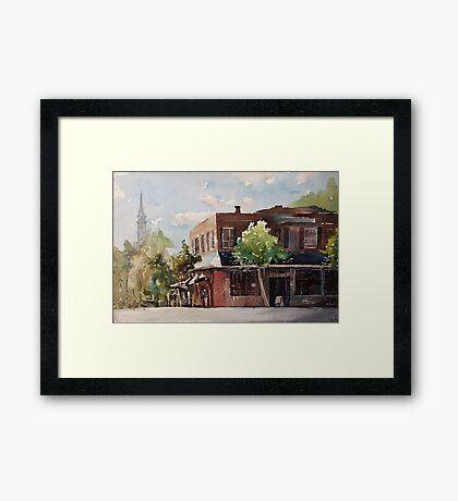 Plein air painting of Cary, North Carolina (USA) Framed Print
