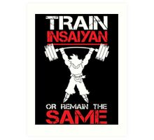 Train Insaiyan Remain Same Art Print
