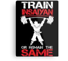 Train Insaiyan Remain Same Metal Print