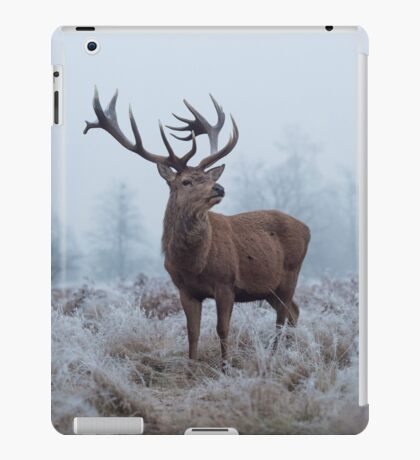 Monarch in a field of white iPad Case/Skin