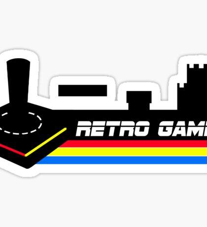 retro gamer classic  games Sticker
