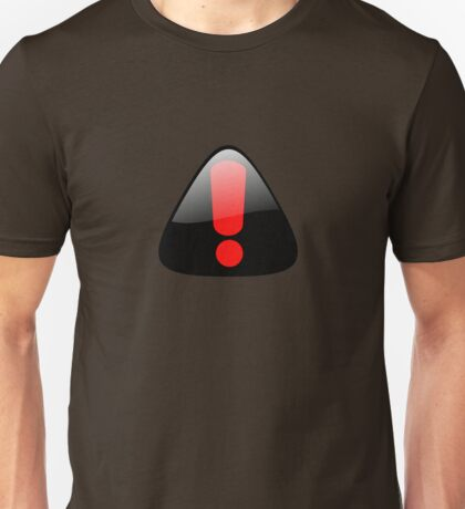 Exclamation button. Unisex T-Shirt