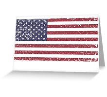 Vintage Look Stars and Stripes American Flag Greeting Card