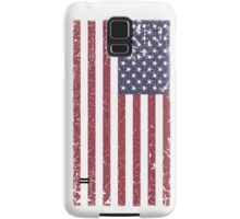 Vintage Look Stars and Stripes American Flag Samsung Galaxy Case/Skin