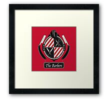 The barbers Framed Print
