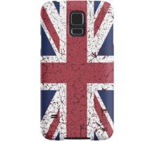 Vintage look Union Jack Flag of Great Britain Samsung Galaxy Case/Skin