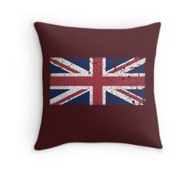 Vintage look Union Jack Flag of Great Britain Throw Pillow
