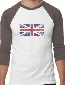 Vintage look Union Jack Flag of Great Britain Men's Baseball ¾ T-Shirt