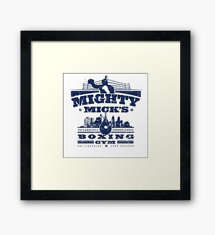 Mighty Micks Boxing Gym Framed Print