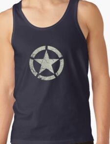 Vintage Look US Army White Star Emblem Tank Top