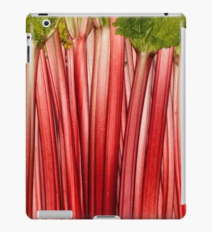 Rhubarb full rose red background. Rheum. Macro iPad Case/Skin