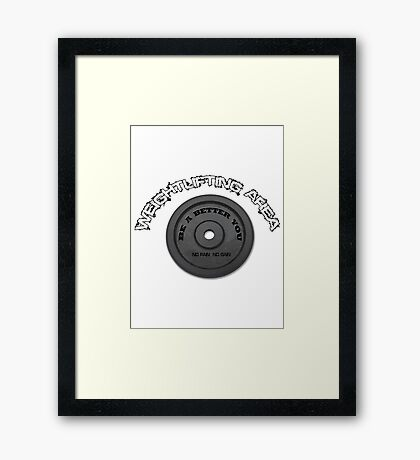 weightlifting area Framed Print