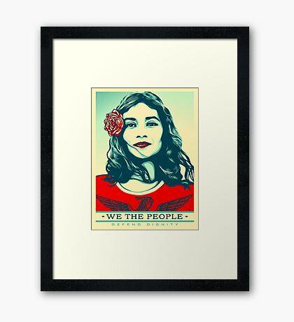 women's march on washington high resolution Framed Print