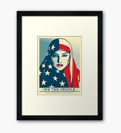 women's march on washington poster high resolution Framed Print