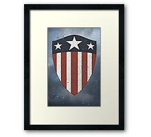 Vintage Look USA WW2 Captain America Style Shield Framed Print
