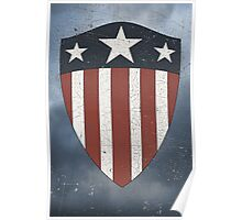 Vintage Look USA WW2 Captain America Style Shield Poster