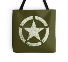 Vintage Look US Army White Star Emblem Tote Bag