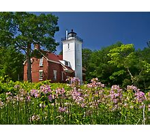 Flowers at the Light - Michigan Photographic Print