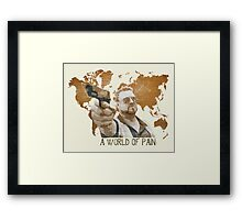 A World Of Pain Framed Print