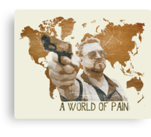 A World Of Pain Canvas Print