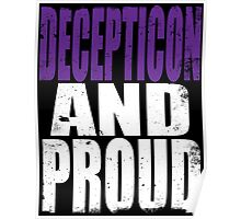 Decepticon AND PROUD Poster
