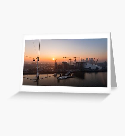 Sunset from the Emirates Cable Car Greeting Card