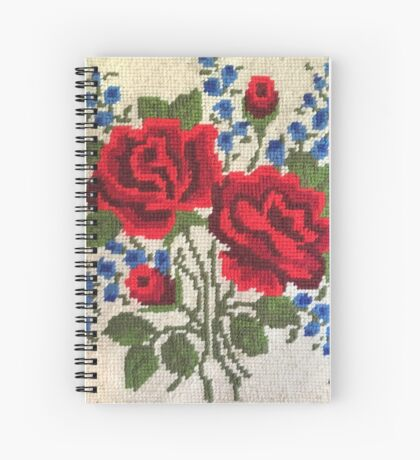 Red Roses Needlepoint Spiral Notebook