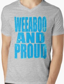Weeaboo AND PROUD (BLUE) Mens V-Neck T-Shirt