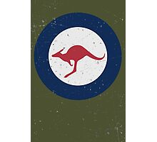 Vintage Look Royal Australian Air Force Roundel  Photographic Print