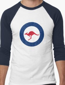 Vintage Look Royal Australian Air Force Roundel  Men's Baseball ¾ T-Shirt