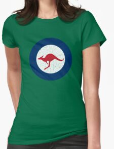 Vintage Look Royal Australian Air Force Roundel  Womens Fitted T-Shirt