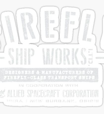 Firefly Ship Works Sticker