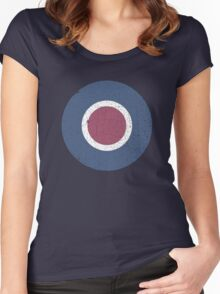 Vintage Look WW2 British Royal Air Force Roundel Women's Fitted Scoop T-Shirt