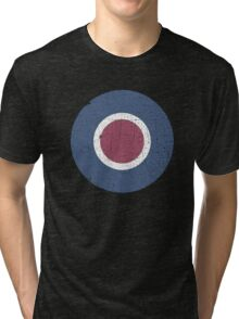 Vintage Look WW2 British Royal Air Force Roundel Tri-blend T-Shirt