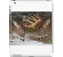 Clash of the Titans - White-tailed deer Bucks iPad Case/Skin