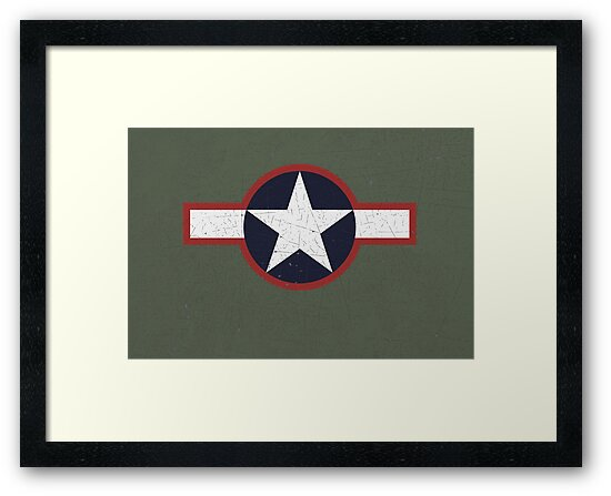 Vintage Look US Forces Roundel 1943 by VintageSpirit
