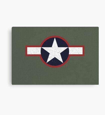 Vintage Look US Forces Roundel 1943 Canvas Print